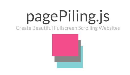 pagePiling.js – jQuery-модуль укладки прокручиваемых окон разделов в стопки