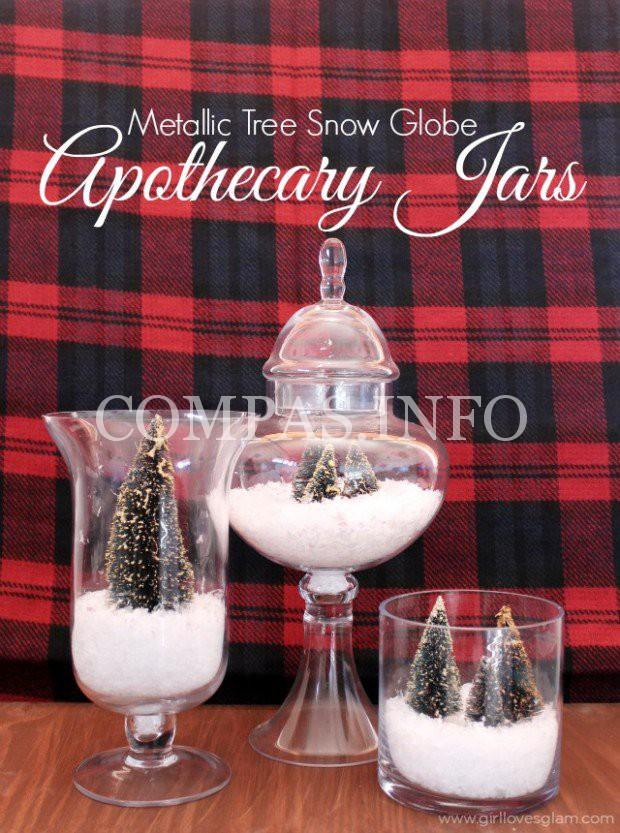 Metallic-Trees-Snow-Globe-Apothecary-Jars