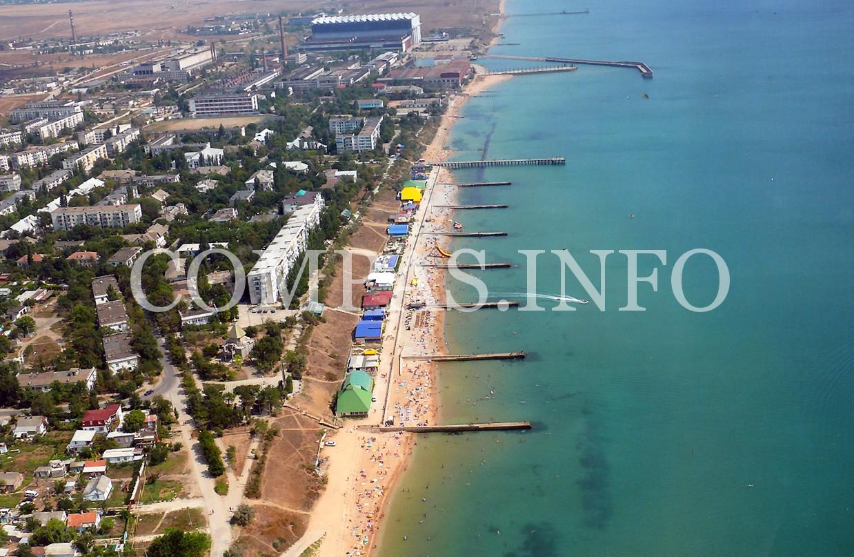 Приморский фото поселка и пляжа