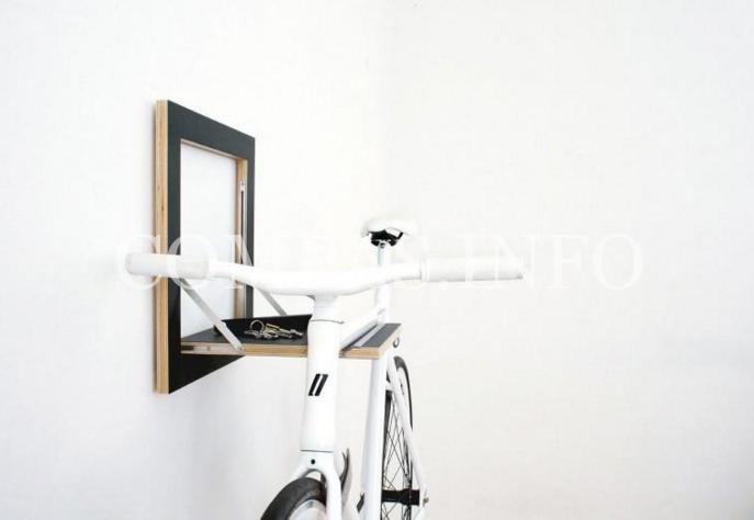 Идеи хранения велосипеда в квартире3