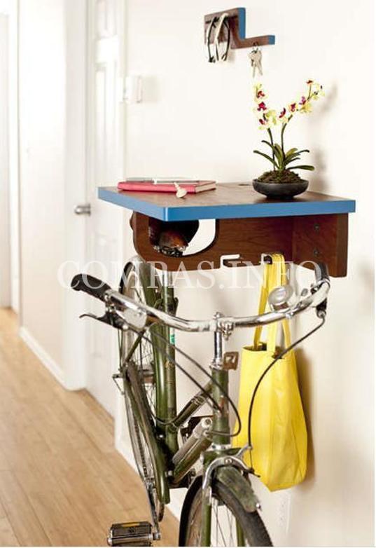 Идеи хранения велосипеда в квартире5